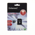Intenso microSDHC card 8 GB High Performance Class 10 +.SD adapter