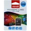 MAXELL MICRO SDHC SECURE DIGITAL 32GB + ADAPTER CLASS 4 TS32GUSDU1