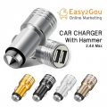 Car Charger With Hammer 2.4A max Universal 2 USB