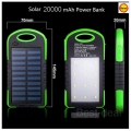 Power Bank 20000mAh Dual USB Napelemes, 6 LED-es ( External Solar Battery )