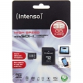 Intenso microSDHC card 32 GB High Performance Class 10 +.SD adapter