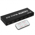 HDMI Matrix Switch 4x2 4K*2K , 3D 1080P V1.4 for HDTV XBOX DVD PS3 Projector