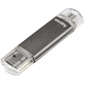 Hama Laeta Twin USB pendrive, 32GB, OTG, USB 2.0