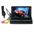 "STAND SECURITY TFT MONITOR 4.3"" TFT LCD Car Vehicle Foldable Rearview Color Camera"