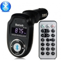 Wireless Bluetooth FM Transmitter Modulator Car Kit MP3 Player SD USB MMC+Remote