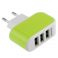 USB CHARGER YD-3U  3-Port USB  AC LED Power Charger Adapter 3.1A For iPhone EU C WT