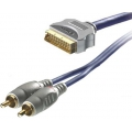 Vivanco Sound  and  Image Cable Scart to 2 x RCA ( Audio ) 10 méter