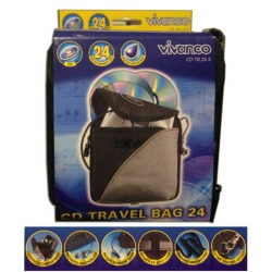 Vivanco CD TRAVEL BAG 24 db-os
