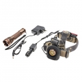 HeadLamp Flashlight 6811 ( LED Flashlight + Headlamp Set (1x18650)