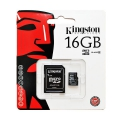 Kingston microSDHC 16GB CL10+adapter
