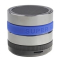 Music mini bluetooth speaker Silver , Blue