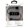USB 2.0 HUB For Mobile phone Charger ( 3 port ) Samsung black S-K01