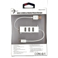 USB 2.0 HUB For Mobile phone Charger ( 3 port ) Samsung White S-K01