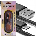 Micro USB 5 Pin Strong Fabric Braided Cable Data Transmit and charging High Speed 10195