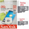 SanDisk Ultra 32GB Micro SDHC UHS-I/Class 10 Card 48MB/s (SDSQUNB-032G-GN3MN)