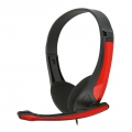 FREESTYLE HI-FI STEREO HEADSET + MIC FH4088O RED [43088]