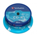 Verbatim CD-R 25-ös hengerben 700MB 52x Extra protection 43432